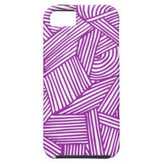 Cool Blue / Brown Fun Doodle Lines iPhone 5 Cover
