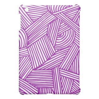 Cool Blue / Brown Fun Doodle Lines iPad Mini Covers