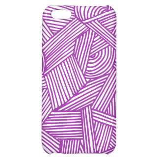 Cool Blue / Brown Fun Doodle Lines iPhone 5C Covers