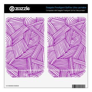 Cool Blue / Brown Fun Doodle Lines FreeAgent GoFlex Skin