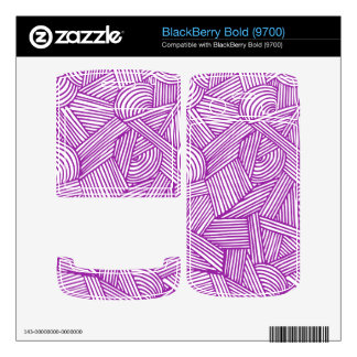 Cool Blue / Brown Fun Doodle Lines Skins For BlackBerry Bold