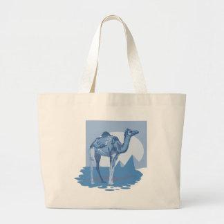 Cool Blue Camel Totes Jumbo Tote Bag