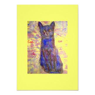 cool blue cat card