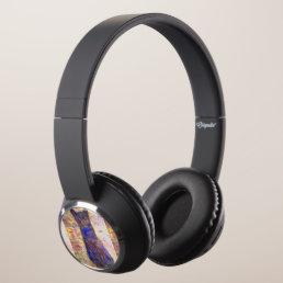 cool blue cat headphones