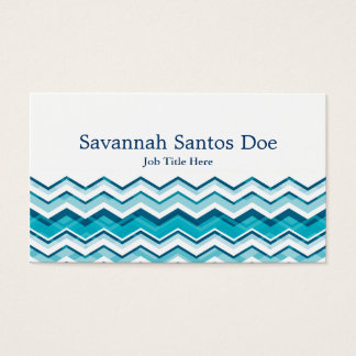 Cool Blue Chevron Business Card