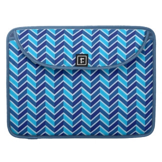 Cool Blue Chevron Style Sleeve For MacBook Pro