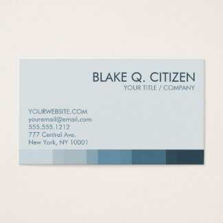 Cool Blue Color Bar Business Card