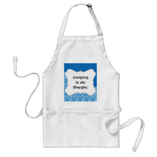 Cool Blue Colorful Tile Wave Pattern Gifts Adult Apron