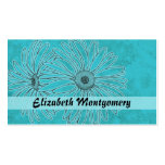 Cool Blue Daisy Spa Appointment Business Card Business Cards