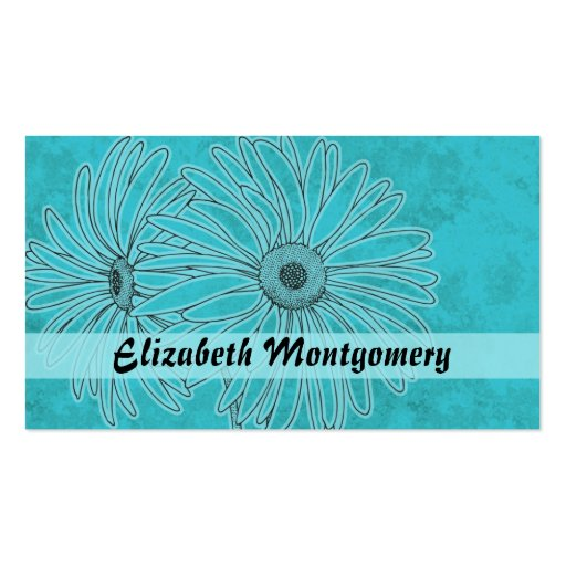 Cool Blue Daisy Spa Appointment Business Card