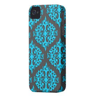 Cool Blue Damask Blackberry Bold Case