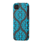 Cool Blue Damask Iphone 4/4S Case-Mate Case
