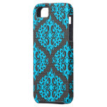 Cool Blue Damask Iphone 5 Case-Mate Case