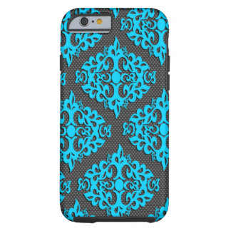 Cool Blue Damask iPhone 6 Case