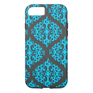 Cool Blue Damask iPhone 7 Case
