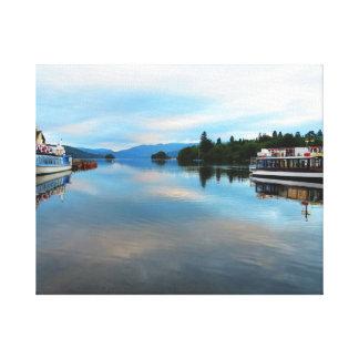 COOL BLUE DAWN LAKE WINDEMERE THE LAKE DISTRICT U CANVAS PRINT