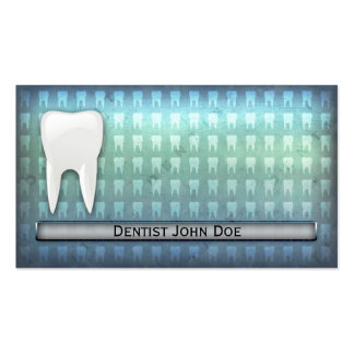 Cool blue dentist dental office business card