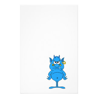 cool blue devil with an attitude personalized stationery