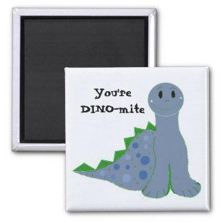 Cool Blue Dinosaur Magnet