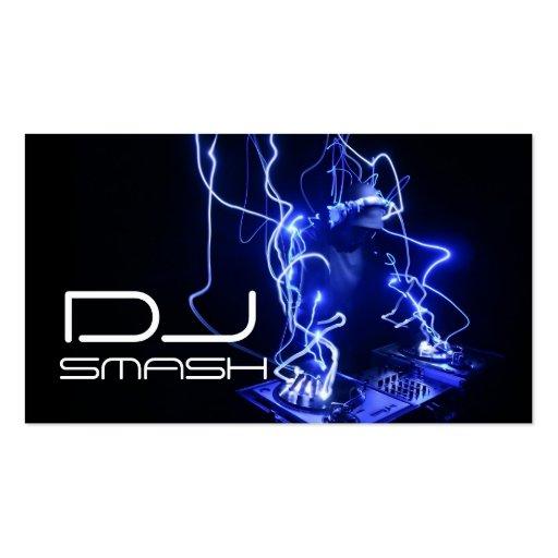 Cool Blue DJ Music Business Card