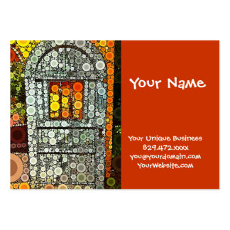 Cool Blue Door Southwestern Courtyard Wooden Door Large Business Cards (Pack Of 100)