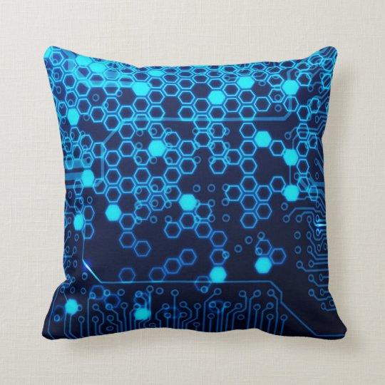 Cool Blue Electronic Circuit Board Hexagon Pattern Speaker Zazzle