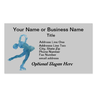 Cool Blue Figure Skater Business Card Templates
