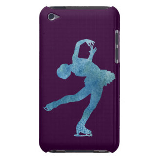Cool Blue Figure Skater Barely There iPod Cases