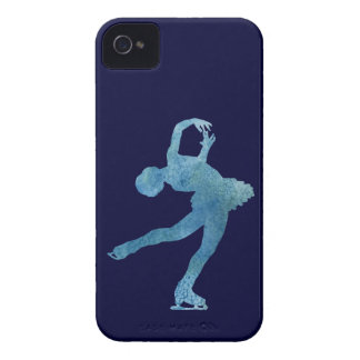 Cool Blue Figure Skater iPhone 4 Case-Mate Case