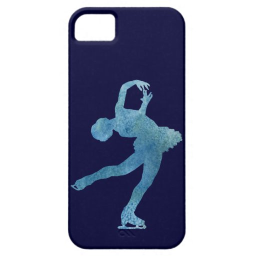Cool Blue Figure Skater iPhone 5 Covers