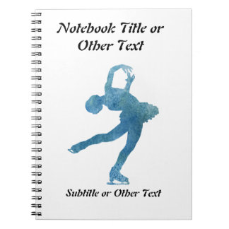 Cool Blue Figure Skater Note Books