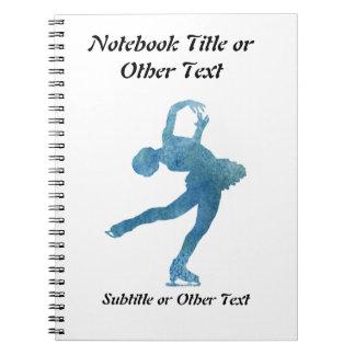 Cool Blue Figure Skater Spiral Notebook