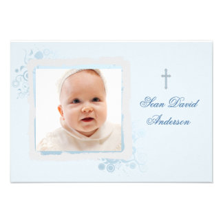 Cool Blue Flat Photo Thank You Invites