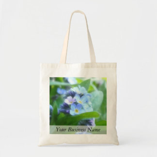 Cool Blue Forget Me Nots Tote Bag
