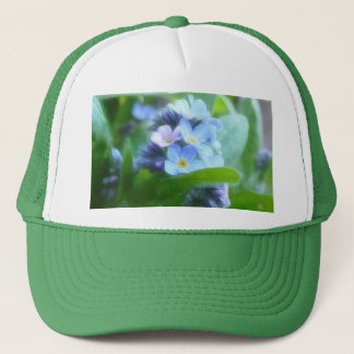 Cool Blue Forget Me Nots Trucker Hat