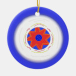 Cool Blue Frisbee Ornament