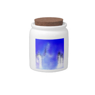 Cool Blue Frosty Candy Jars