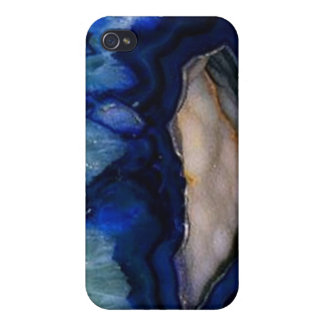 Cool Blue Geode iPhone 4/4S Case