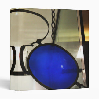 Cool Blue Glasses 3 Ring Binder