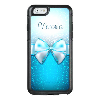 Cool Blue Glitter Trendy OtterBox iPhone 6 Case