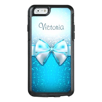 Cool Blue Glitter Trendy Otterbox Iphone 6 Case by girlygirlgraphics at Zazzle