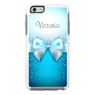 Cool Blue Glitter Trendy OtterBox iPhone 6 Case