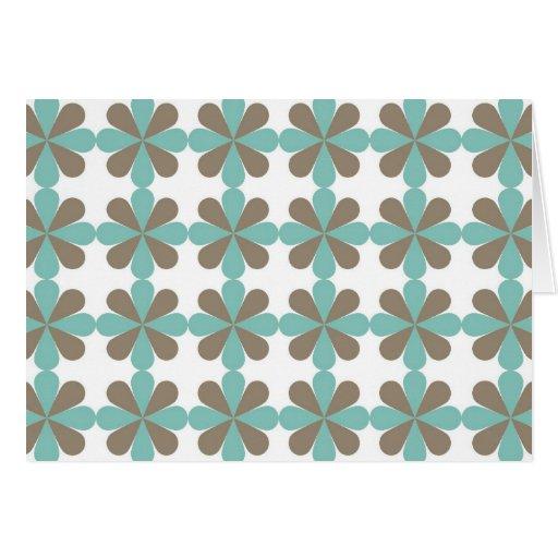 Cool Blue Gray Cris Cross Star Floral Patterns Card