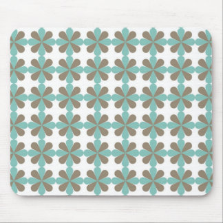 Cool Blue Gray Cris Cross Star Floral Patterns Mouse Pad