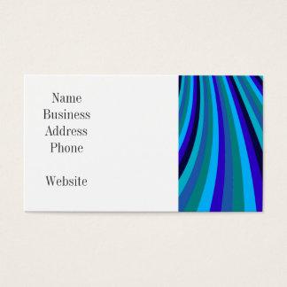 Cool Blue Gray Rainbow Slide Stripes Pattern Business Card
