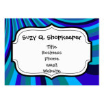 Cool Blue Gray Rainbow Slide Stripes Pattern Business Cards