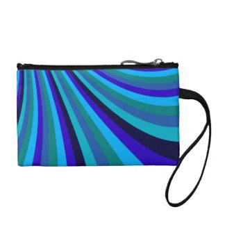 Cool Blue Gray Rainbow Slide Stripes Pattern Change Purse