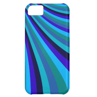Cool Blue Gray Rainbow Slide Stripes Pattern iPhone 5C Case