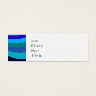 Cool Blue Gray Rainbow Slide Stripes Pattern Mini Business Card