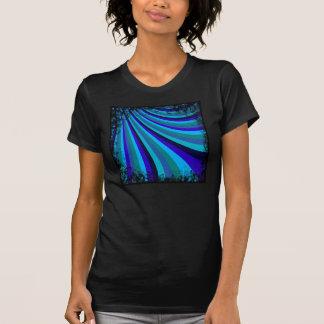 Cool Blue Gray Rainbow Slide Stripes Pattern T Shirt